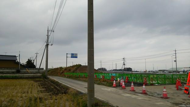 新4号国道、道の駅ごか近くの4車線化進捗状況その6