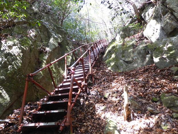 滝見台への鉄階段