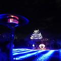 冷え込む夜の大阪城