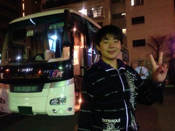 金曜日の夜行バスで大阪から東京へ移動