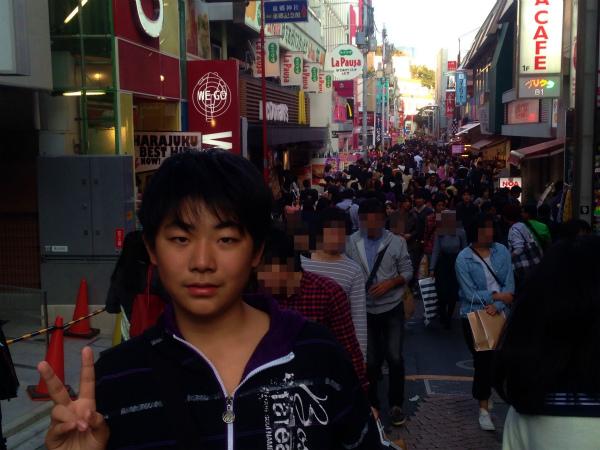 竹下通りは私の想像以上の混雑