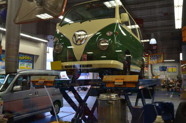 ミニバスのエンジンオイル&オイルエレメントを交換