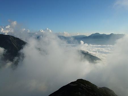 唐松岳山頂からの眺望