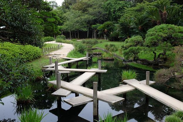 岡山後楽園の八橋