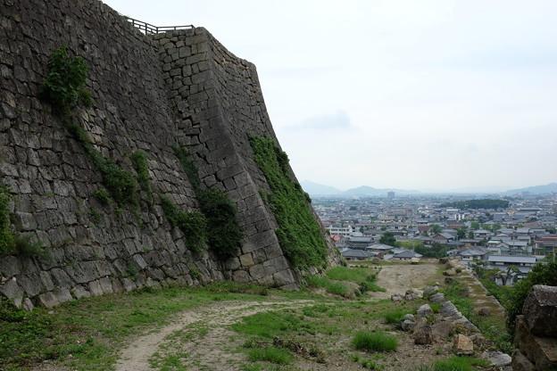 丸亀城の石垣と丸亀市街