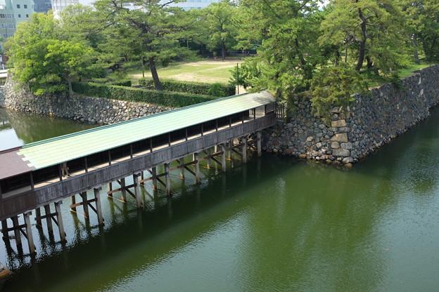 高松城の鞘橋と堀
