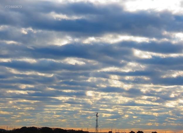 南の空に広がる高積雲
