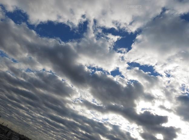 ダイナミックに広がる高積雲