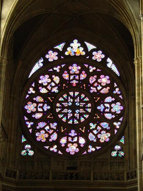 写真: バラ窓