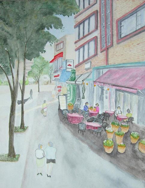 49海岸通りのオープンカフェ