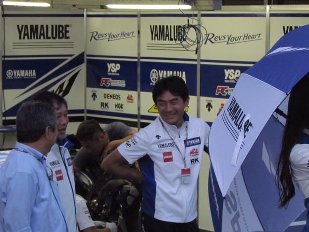 写真: 2014 motogp もてぎ 中須賀克行 Yamaha YZR-M1 Katsuyuki・NAKASUGA motegi 437